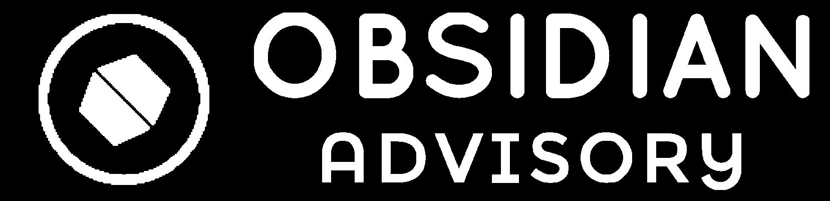 Obisidan Advisory Logo White Slim